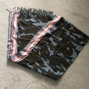 J Crew camo print scarf